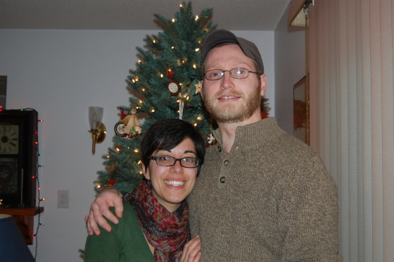 Scott and me, Christmas 2012