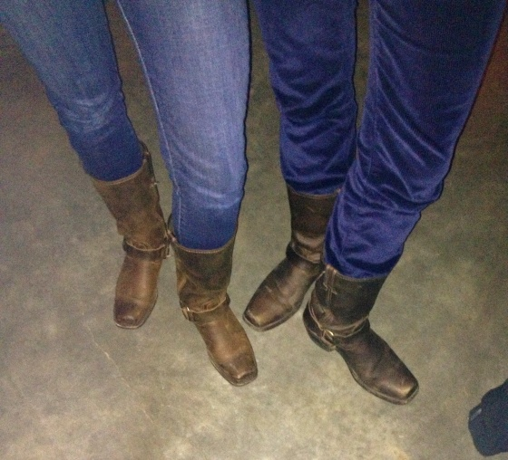 Matching boots!