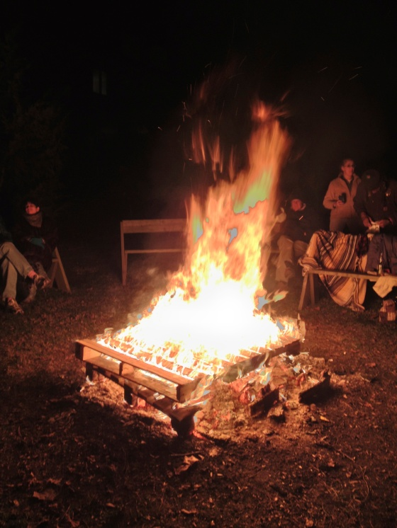 Christmas Eve Bon Fire!