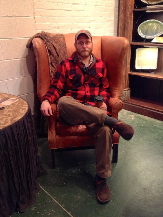 Scott found a chair he likes.
