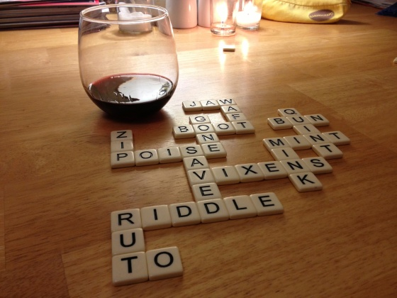 Vino and Bananagrams