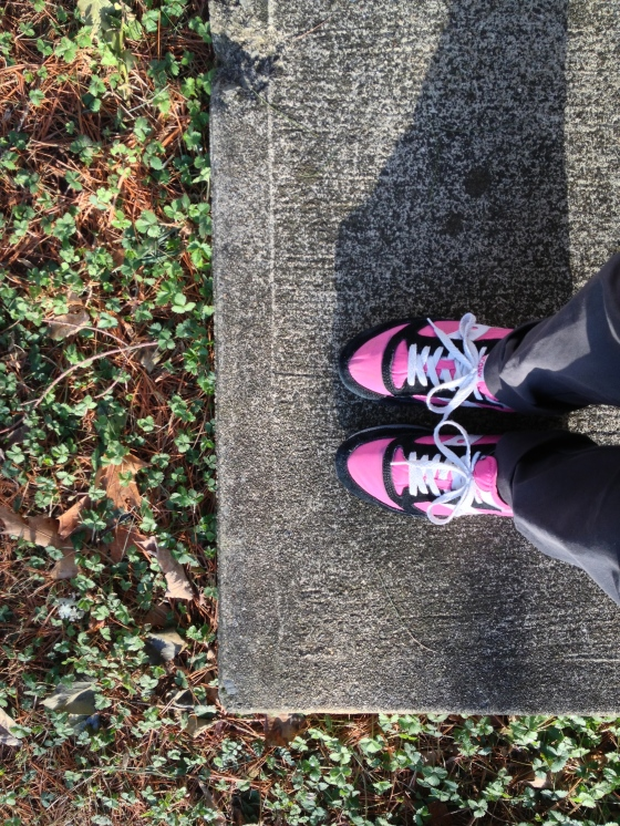 Pink kicks.