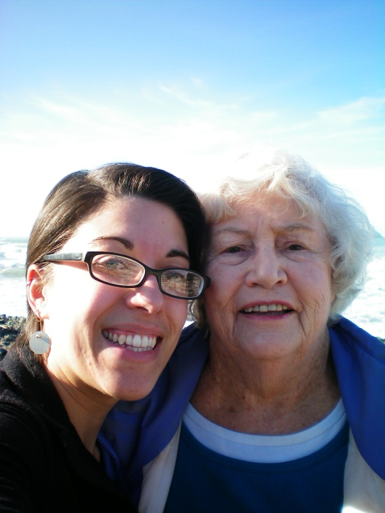 Grandma & me January 2011 Oregon Coast