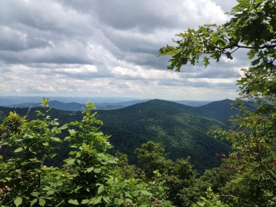 Hiking up Mount Pisgah