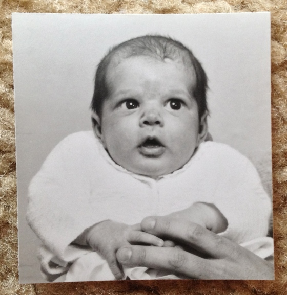 Walking down memory lane with my mom: my first Passport photo. 3 days old.
