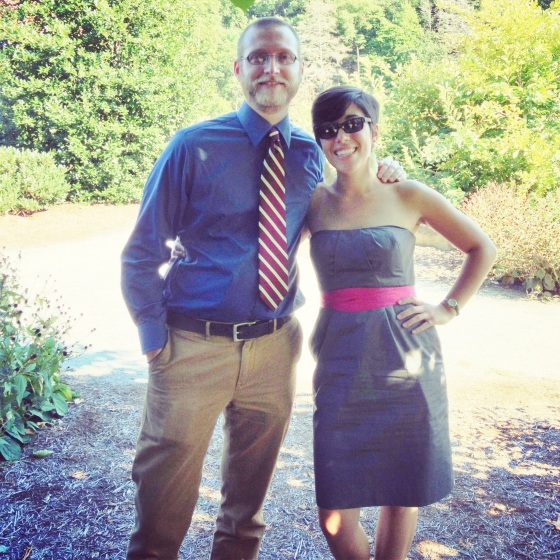 S and me at Lake Lure Wedding