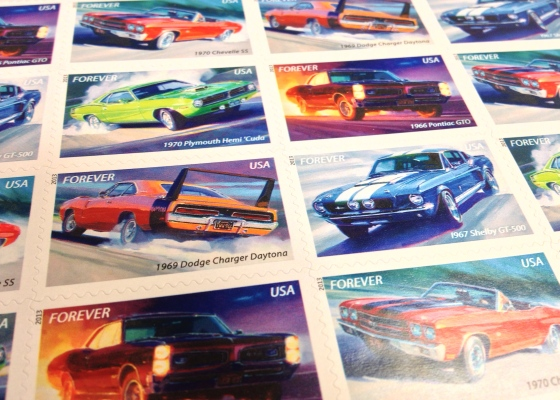 Muscle Car Stamps