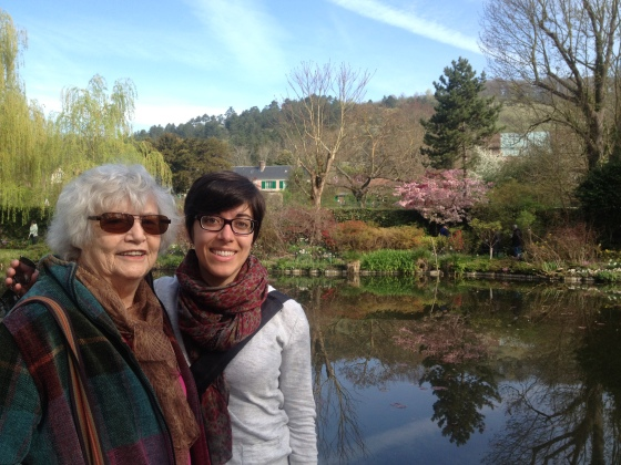 Grandma and Adrianne in Giverny